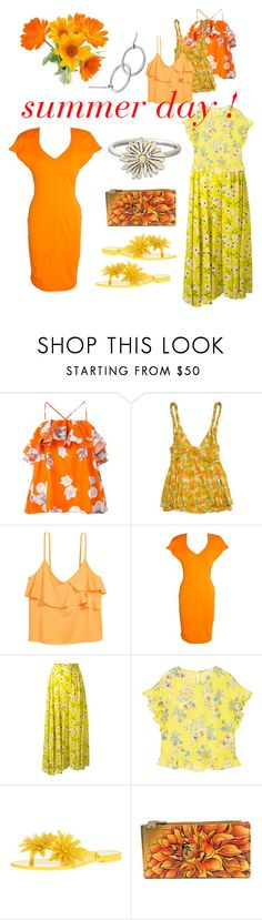 """""""Summer Day"""" by tdncreations ❤ liked on Polyvore featuring MSGM, Diane Von Furstenberg, Thierry Mugler, Rochas, MANGO, Melissa and Anuschka"""