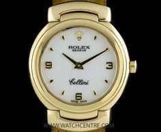#Rolex 18k Yellow Gold White #Porcelain Dial #Cellini Ladies #Wristwatch #6621 Rolex Cellini, Wrist Watches, White Porcelain, Gold Watch, Yellow, Accessories, Watches, Watch, Jewelry Accessories