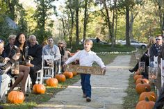 Here comes the Bride Outdoor Fall Wedding made with twine rope, paint and piece of wood. So easy to make!