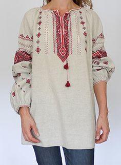 Vintage 70s folk embroidered hippie tunic