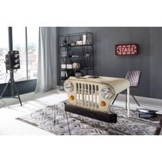 Amazing Desks By Smithers Of Stamford Bedroom Desk, Bedroom Office, Bedroom Themes, Industrial Office Desk, Industrial Bedroom, Jeep Stickers, Vintage Jeep, Green Office, Automotive Furniture