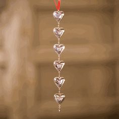String of Hearts ornament