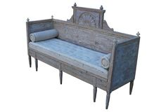 Swedish Gustavian Painted  Daybed