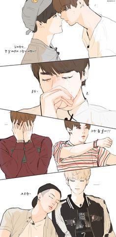 BTS Bangtan Boys/Sonyeondan fanart! Do u guys remember this scene? Hmm?