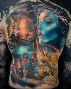 6343c7b4a Colour Realism Back Tattoo #realismtattoo #colourtattoo #skingiants  #tattooist #tattoolove #tattooed