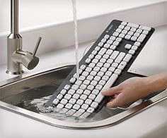 Well... #cleaning keyboard is now super easy - just wash it. #keyboard #computer