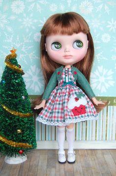 Jolly Holly Cupcake Dress by BlytheByBetty on Etsy