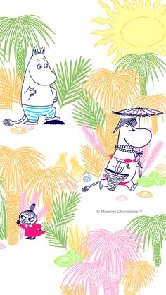 moomin Moomin Wallpaper, Marimekko Wallpaper, Cartoon Wallpaper Iphone, Little My Moomin, Cute Home Screen Wallpaper, Cute Home Screens, Les Moomins, Moomin Valley, Cartoon Photo