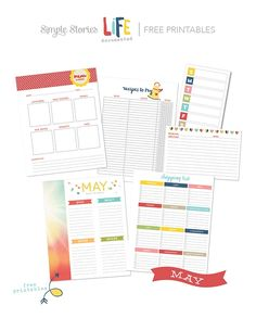 Free Life Documented Printables from Simple Stories. Great for planners... Great for paper crafters.