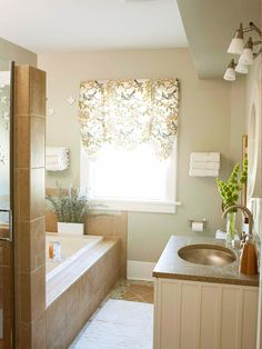 I have a tiny bathroom, but this would totally be doable in that space. I really want to renovate my bathroom!