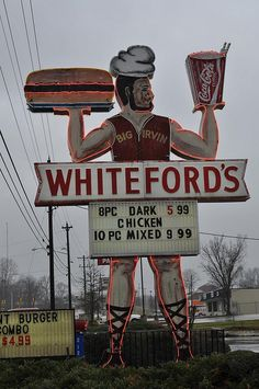 Whiteford's Giant Neon Man, Lauren's South Carolina by esywlkr, via Flickr