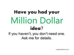 how to make a million dollar business