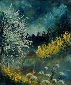 Brooms shrubs by Pol Ledent -- I quite like many of his abstract and landscape pieces, but not a single one of his portraits.