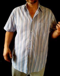 #twitter#tumbrl#instagram#avito#ebay#yandex#facebook #whatsapp#google#fashion#icq#skype#dailymail#avito.ru#nytimes #i_love_ny     Henderson, Aquamarine Stripe, Spread Collar Shirt, Slim Fit  size XXL #Henderson