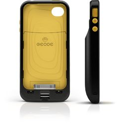 Geode Digital Wallet for IPhone.     Geode is an iPhone Appcessory that stores credit cards, loyalty cards, gift cards, and membership cards and protects the information with biometric security. The onboard universal card and e-ink barcode screen means that any card can be stored in the Geode and used anytime, anywhere.