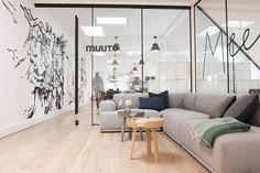 Muuto's Sophisticated Copenhagen Office is All About Transparency – Modern Corporate Office Design Corporate Office Design, Workplace Design, Home Office Design, Office Designs, Office Ideas, Modern Home Office Furniture, Modern Home Offices, Bureau Design, Scandinavian Office