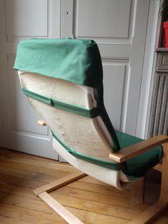 Ikea Poang Chair, Ikea Armchair, Diy Chair, Chaise Ikea, Furniture Slipcovers, Slipcovers For Chairs, Chair Cushions, Furniture Makeover, Diy Furniture