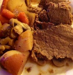 Slow Cooker Bottom Round Beef Roast. Photo by Chefbatmanjc