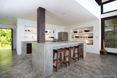 Konkrete Küchenarbeitsplatten Insel
