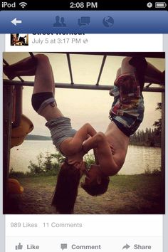Street Workout ( Calisthenics ) A couple that works out together grows together :)