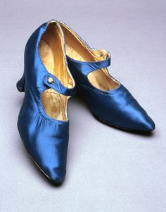Shoes worn by Dame Nellie Melba, 1920,s. Born Helen Mitchell in Melbourne, Australia (she took her stage name from the city), she rose to become a fixture at London's Covent Garden and other great international houses for three-plus decades until her retirement in 1926