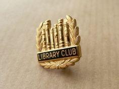 Vintage Library Club Pin