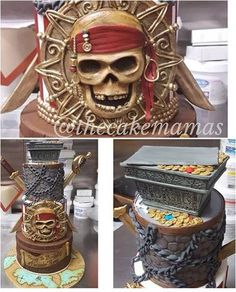 Pirates of the Caribbean cake by @thecakemamas