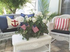 July on the Front Porch - Starfish Cottage