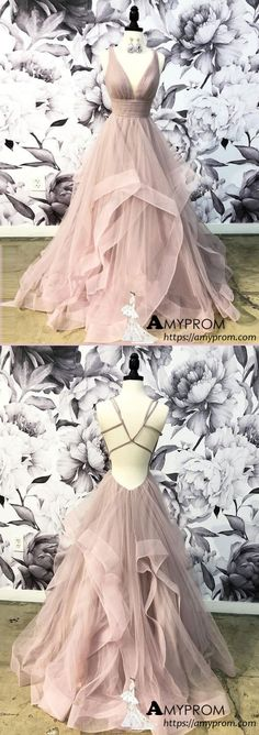 Open Back Dusty Pink Long Prom Dress Simple Ball Gowns Unique Prom Dress Long Evening Gowns gorgeous prom dresses,prom dresses unique,prom dresses Prom Dresses Long Open Back, Prom Dresses Long Pink, Gorgeous Prom Dresses, Elegant Prom Dresses, Prom Dresses For Sale, Tulle Prom Dress, Unique Dresses, Pretty Dresses, Formal Dresses