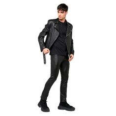 Leather Jacket, Guys, How To Wear, Jackets, Fashion, Studded Leather Jacket, Down Jackets, Moda, Leather Jackets