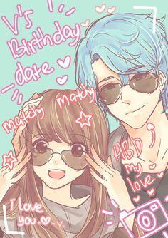 My love~ I like Rika..bbuut..she yeah..so V is mine aaand I am his love :D