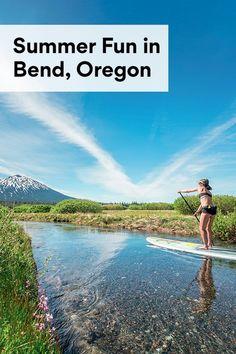 Summer Fun in Bend, Oregon Water Activities, Outdoor Activities, Summer Travel, Summer Fun, Alpine Pools, Oregon Swimming, Sunriver Oregon, Mountain Bike Tour, Best Swimming