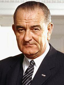 Lyndon Baines Johnson (LBJ).   From http://xenohistorian.faithweb.com/northam/