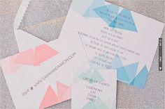 triangle wedding invitation | VIA #WEDDINGPINS.NET