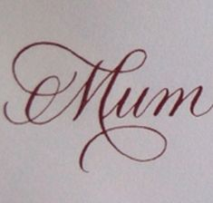 Mum tattoo font/design