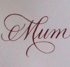 Mum tattoo font/design