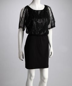 Take a look at this A List Black Beaded Dress by Women's Blow-Out Sale on #zulily today!