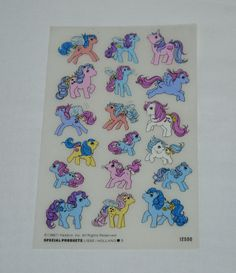 Vintage My Little Pony Rub on Transfers G1 Flutter So Soft First Tooth Baby