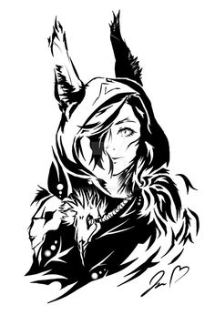 Xayah - The Rebel League of Legends fan art Xayah Rakan League Of Legends, Lol League Of Legends, Legend Drawing, Lol Champions, Fantasy Dragon, Tattoo Sketches, Fantasy Creatures, Werewolf, Female Art