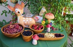 Fruits and snacks at a Bambi Baby Shower #babyshower #snacks