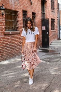 wearing a skirt with sneakers #fashion #comfy
