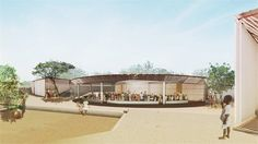 Secondary School with passive ventilation system - Global Holcim Awards 2012 Gold - Kénédougou, Burkina Faso - 2012 - Kere-Architecture