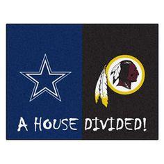 NEW ARRIVAL: Dallas Cowboys vs Washington Redskins 35x45 House Divided Rug http://www.fansedge.com/Dallas-Cowboys-vs-Washington-Redskins-35x45-House-Divided-Rug-_-478191765_PD.html?social=pinterest_pfid22-53604