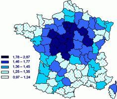Rapport du nombre de décès au nombre de décès attendus, par département  http://www.ined.fr/fr/tout_savoir_population/fiches_pedagogiques/duree_de_vie_deces_mortalite/canicule_aout_2003/
