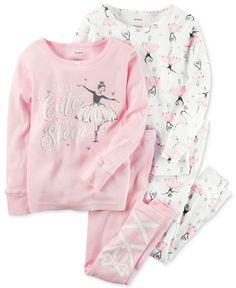 Carter's 4-Pc. Tutu Cute To Sleep Ballerina Pajama Set, Baby Girls (0-24 months)
