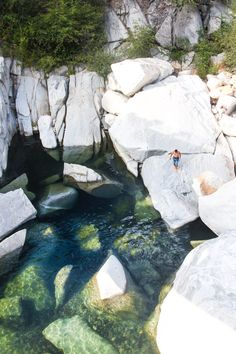 "Up near Nevada City, where Route 49 (the ""Mother Lode-"" or ""Gold Country Highway"") crosses South Yuba River, a series of swimming holes form...   #GeorgeTupak"