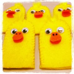 Duck finger puppets