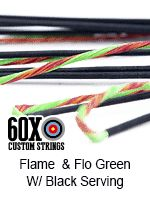 flame fluorescent green with black serving custom bow s tring