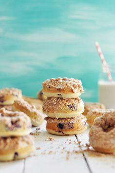 Baked Blueberry Crumb Doughnuts - must make gluten free!!