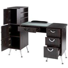 EuroStyle Deluxe Manicure Table MKG-767 - Ebony
